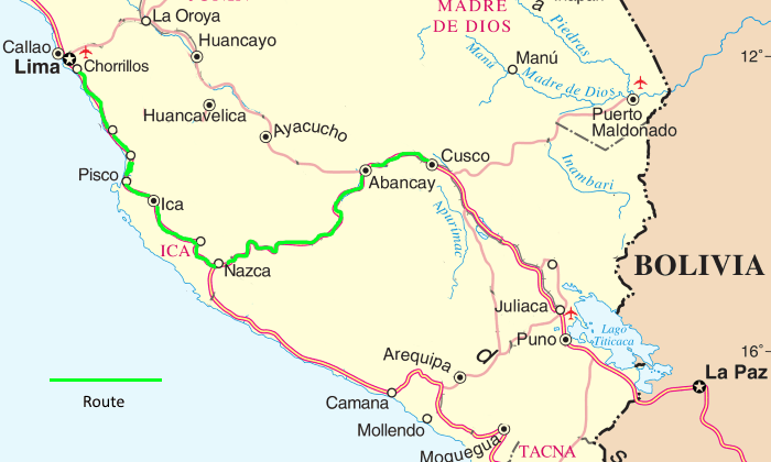 Lima to Cusco by bus via Nazca, Abancay