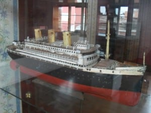 Transatlantic passenger ship model