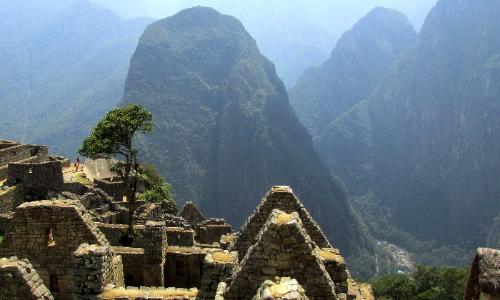 The view from Machu Picchu