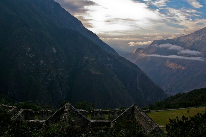 Alternatives to Machu Picchu Choquequirao Sunset in Mountains
