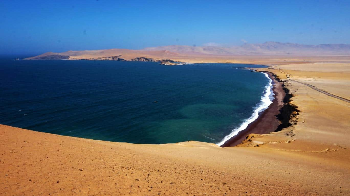 Paracas Peru Beach Playa Roja