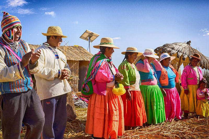 Uros People on Uros Floating Islands